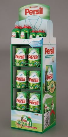 Persil Floorstand by Ricardo García at Coroflot.com Pos Display, Display Design, Product Display, Display Stands, Shelf Design, Pos Design, Retail Design, Stand Feria, Cardboard Display