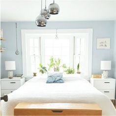 See a dull beige bedroom transformed into a light and airy retreat!