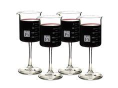 4 Beaker Glasses