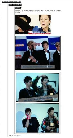 aww kris but lol, its definitely a love thing they got going on hahaha xD #exo #chanyeol #kris