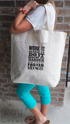 A tote that holds your gear and inspires!