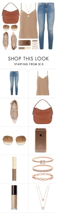 """Neutral"" by mezzanotteofficial on Polyvore featuring 7 For All Mankind, L'Agence, Valentino, Chloé, Dolce&Gabbana, Accessorize, Becca, Michael Kors, brown and beige"