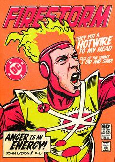 セックス・ピストルズ(Sex Pistols) ジョン・ライドン(John Lydon)  The Post-Punk / New Wave Super Friends by Butcher Billy by Butcher Billy, via Behance