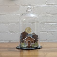 Limited edition cottage diorama. Only 20 available Made from solid hardwood, with lacquered and etched finish. ** sold out **