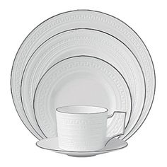 Wedgwood Intaglio Platinum discounted china at Matching China
