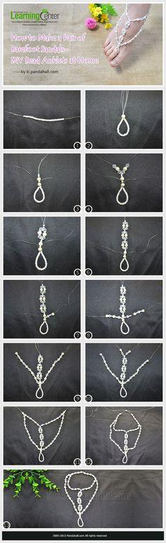 DIY Bead Anklets