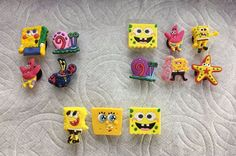 LOT OF SPONGEBOB SHOE CHARMS FITS CROCS MR KRABS GARY SNAIL PATRICK SHOE CHARMS #Unbranded