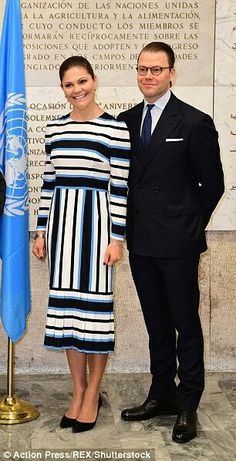 CP Victoria of Sweden and Prince Daniel in Rome. December 16 2016