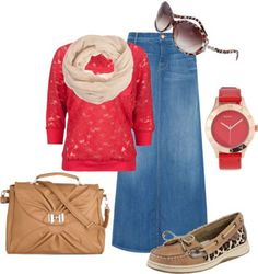 Maxi Skirt Outfits 020