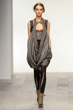 Deconstructed Tailoring - menswear transformed into a dress; inspiration for sustainable fashion design // Bora Aksu