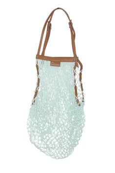 Carven cotton fishnet bag