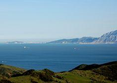Estrecho de Gibraltar, con la ciudad de Ceuta al fondo.