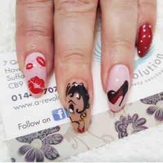 Pin for Later: 20 Cartoon-Inspired Nail Art Looks That Will Make You Feel Nostalgic Betty Boop Scoop