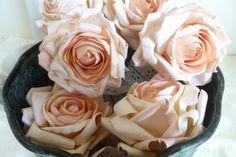Parchment Paper Roses Large Light Peach Parchment Paper Roses Paper Flowers Floral Supplies Flower Decorations