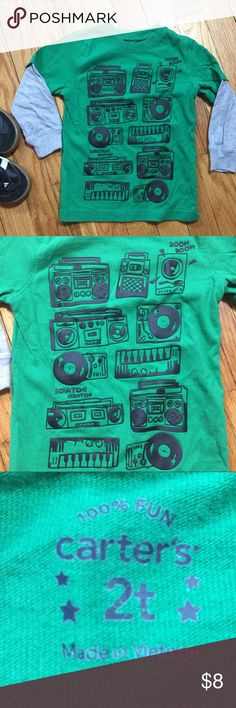 Carter's Boombox Long Sleeve Graphic Tee Carter's Boombox Music Long Sleeve Tee ⭐️EUC⭐️ Size 2T 🎵 🚫 Trades. 📦 Fast shipping! Bundle items from my closet to save more! 💰 Carter's Shirts & Tops Tees - Long Sleeve