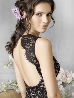 $98 Attracting Embroider lace Backless floor length A-line Bridesmaid Dress/ evening dress