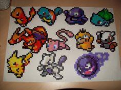 Small Pokemon Sprites Pikachu charizard charmander by ABeadsCStart, £5.00