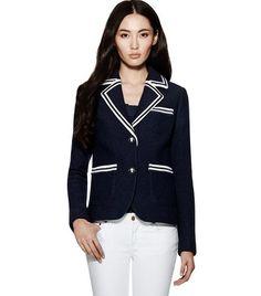 Amara Blazer | Womens Jackets & Outerwear | ToryBurch.com