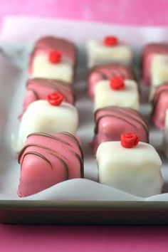 How to make petit fours... but after reading this, they seem like a lot of work. Might just have to find somewhere to buy some.