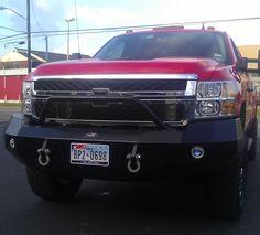 Make your truck look great! Heavy duty bumper, flat steel with prerunner for 2012 Chevy HD. http://www.builtfortrucks.com/categories/heavy-duty-truck-accessories/heavy-duty-front-bumpers/