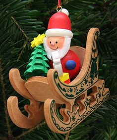 Another great find on #zulily! Wood Santa Sled Ornament #zulilyfinds