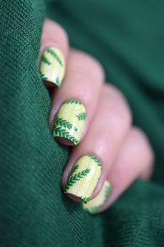 Marine Loves Polish: Tropical leaves - MoYou Tropical 13 & Key Lime