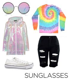 """Untitled #17"" by thegarrettkids ❤ liked on Polyvore featuring Sunday Somewhere, Boohoo and Converse"