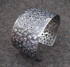 Sea Urchin Sterling Silver Cuff Bracelet by VictoriaTeague on Etsy, $465.00