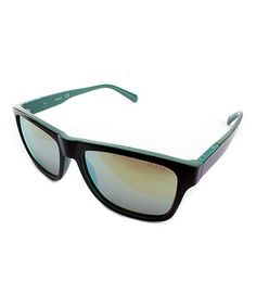 Love this Black & Green Square Sunglasses on #zulily! #zulilyfinds
