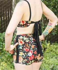 DIY High Waisted Vintage Bikini - FREE Sewing Pattern and Tutorial