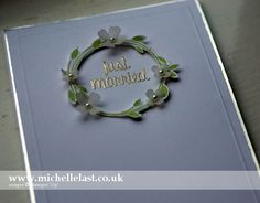 Handmade Wedding Card using Stampin' Up! Supplies - Stampin' Up! Demonstrator Michelle Last