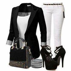 Blanco y negro casual