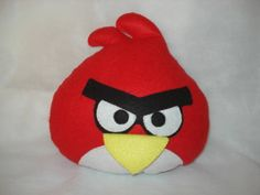 Almofada Angry Bird Red confeccionada em feltro, enchimento manta acrílica antí-alérgica, bordada a mão. R$ 35,00