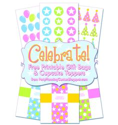Free party printables from Pizzazzerie.com