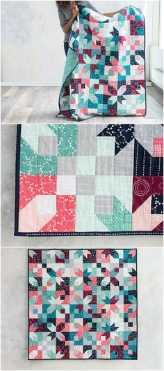 Corner Lot Mod Modern Hand Drawn Decor Quilt Kit featuring Lily & Loom Modern Hand Drawn | Craftsy. Layer cake friendly quilt pattern. Craftsy quilt kit to make your own modern quilt. affiliate link.