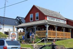 Craft Beer and Fine Dining in Tobermory. Restaurant Steak, Steak And Seafood, Brewing Company, Fine Dining, Craft Beer, Brewery, Grilling, Places To Go, Exterior