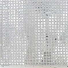 6mm Silver Sequins on White Fabric | Shop Hobby Lobby