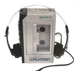 My first walkman. When the sponge ripped on the earpiece...*argh*...so annoying. I think I replaced the headphones no less than 271 times....