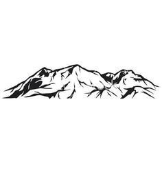rocky mountains outline tattoos - Google Search