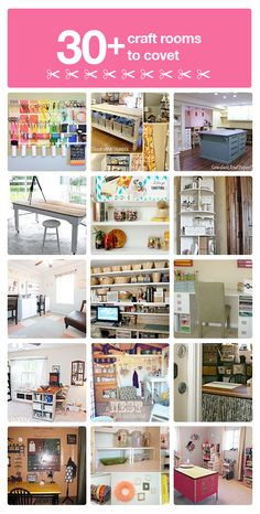 """30+ craft room ideas you will love!"" #furniture #painting #craftroom #inspiration"