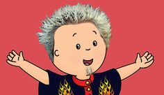 Caillou as Guy Fieri>>>>Wouldn't that mean that he would be. Guy-ou,(bad pun,sorry! Dead Memes, Dankest Memes, Funny Memes, Funny Stuff, Hilarious, Guy Feiri, Reaction Pictures, Funny Pictures, Haha