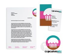Cupcakes Identity Design (logo, letterhead and business card / €125,00) available at the Etsy shop (OAK/readymade design)