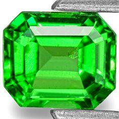 0.94-Carat Vivid Neon Green Tsavorite Garnet from Tsavo Mines