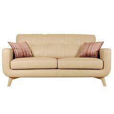 Buy John Lewis Barbican Medium Leather Sofa, Prescott Buckskin Online at johnlewis.com