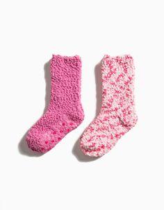 Pack de duas meias em malha macia e muito confortável.