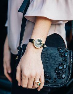 Kate Spade Black Champagne Holland Watch