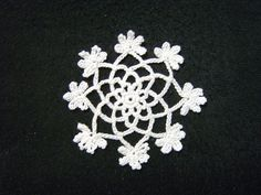 Doily flower (with Ami Figure introduction for beginners, crochet): Crochet a little