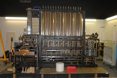 """The """"Difference Engine"""" is a #mechanical #calculator theorized by J. H. Müller in 1786 and realized by Charles Babbage in 1855.  (Babbage himself designed analytical engines and mechanical computers.)"""