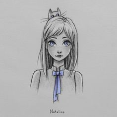 Girl with a bow by natalico