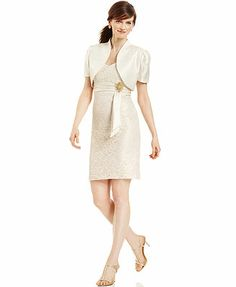 $98 R&M Richards Dress and Jacket, Sleeveless Lace